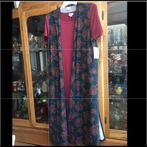 LukaRoe Joy NWT M long vest slits knit navy